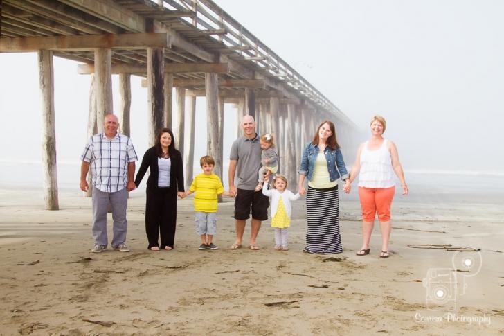 Cayucos Beach Family Portrait Photography