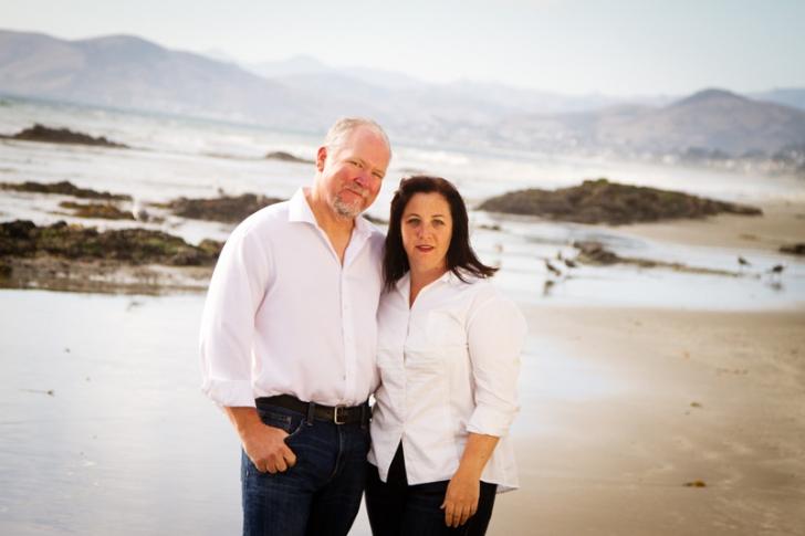 Couple Portrait on the beach Morro Bay